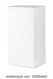 Expanded rib standing white box isolated on white background