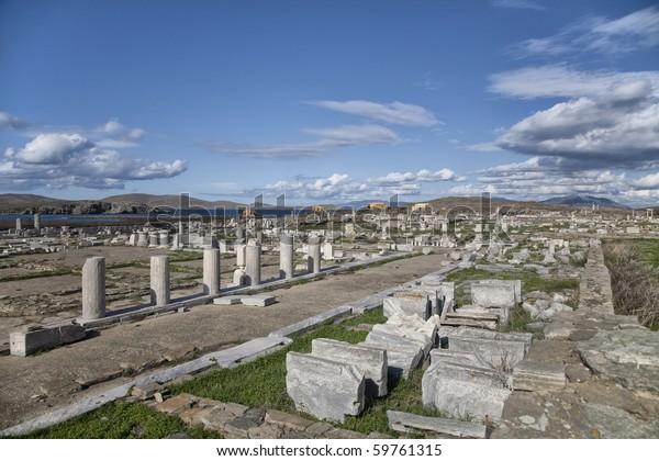 Expanse Ruins On Delos Greek Island Stock Photo (Edit Now) 59761315