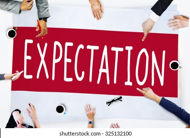 Expectation Prediction Hope Strategy Planning Concept
