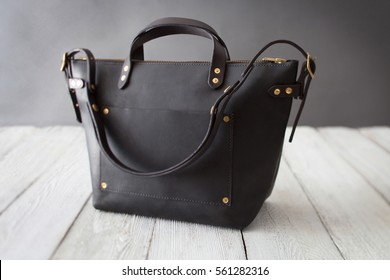 Expensive Black Leather Shoulder Bag