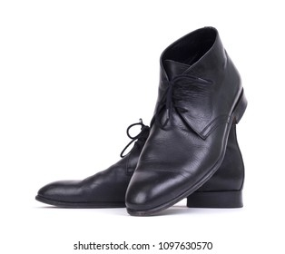Expensive formal shoes, isolated on a white background
