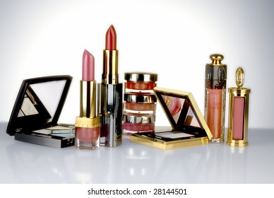 Expensive gold cosmetic packaging