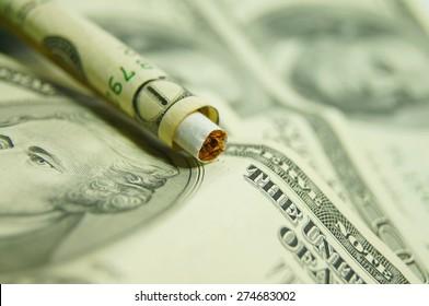 Expensive Habits Concept