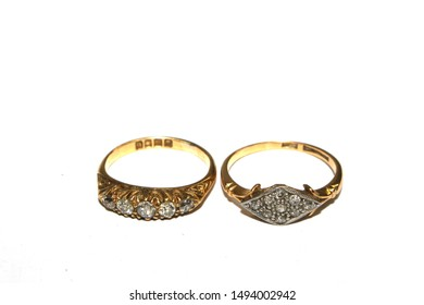 Expensive Jewelry Ring On White Background