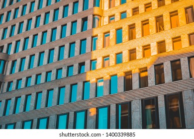 expensive and residential apartment building with light leaks on the facade
