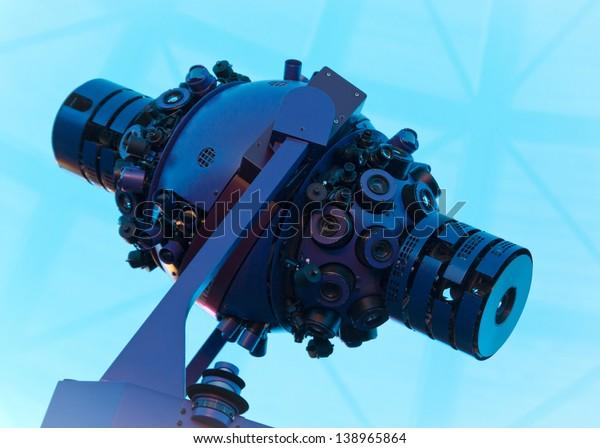 Expensive Star Projector Inside Planetarium Stock Photo