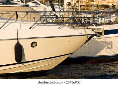 expensive yacht prow