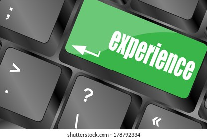 experience word on computer keyboard key