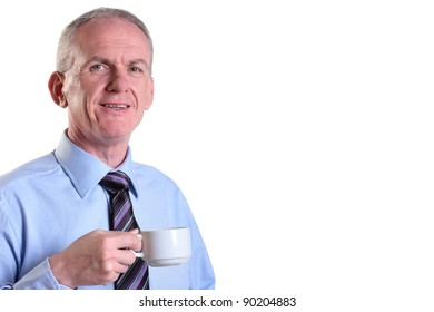 Experienced businessman taking time out with a coffee