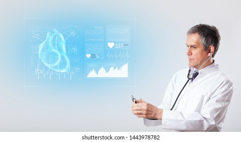 Experienced cardiologist presenting the test results