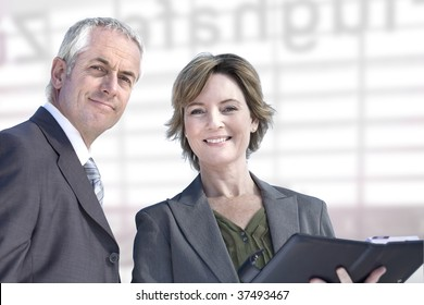 Experienced and mature business couple.
