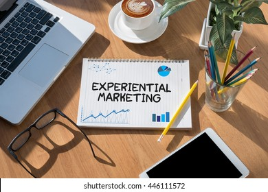 Experiential Marketing  open book on table and coffee Business