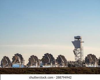 experimental solar electricity generation farm in inglewood rural victoria australia