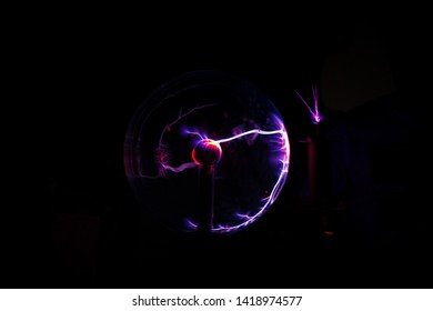 Experiments with electrostatic plasma sphere in the dark