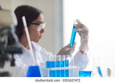 Expert Pharmaceutical Scientist Biology Testing New Manufacturing stuff food products in lab