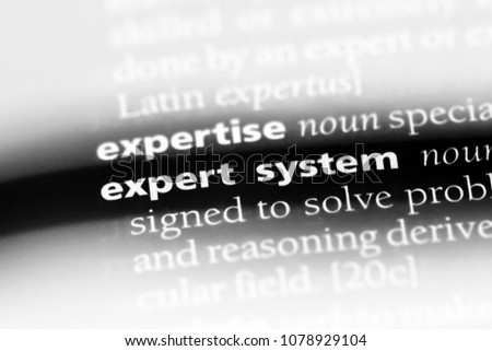 Expert System Word Dictionary Expert System Stock Photo