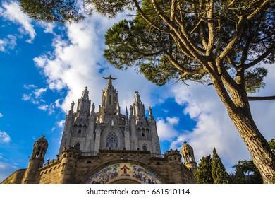 Expiatory Church of the Sacred Heart on the Tibidabo, Barcelona, Catalonia, Spain