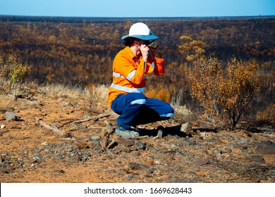 Exploration Geologist in the Field