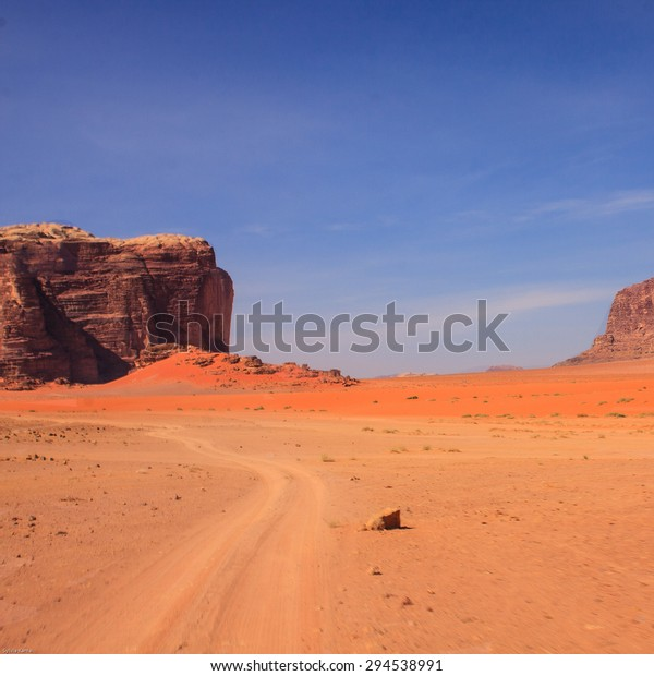 Explore Beautiful Desert Wadi Rum Jordan Stock Photo (Edit Now