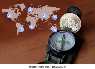 Exploring the crypto currency world - compass and Bitcoin