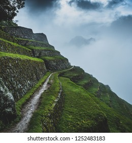 Exploring the terraces of Phuyupatamarca on the Inca Trail, Peru.