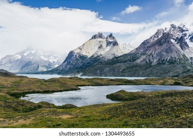 Exploring torres del paine nationalpark in chile