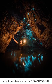 Exploring Waitomo Glowworm Caves, Waikato, New Zealand