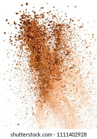 Explosion of cocoa powder