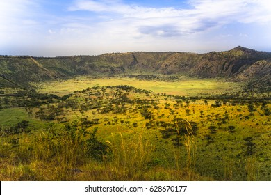 Explosion Craters in Queen Elizabeth National Park, Uganda