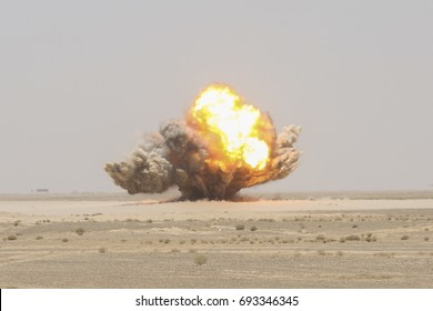 Explosion in the desert