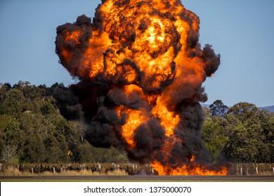 Explosion fire crash