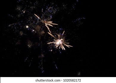 explosion of fireworks in the night