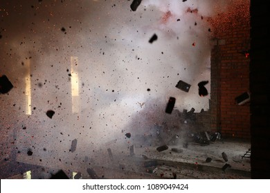 explosion inside the building