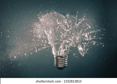 explosion of light bulb high speed photography