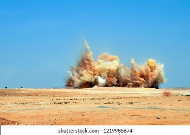 An explosion on the mining site