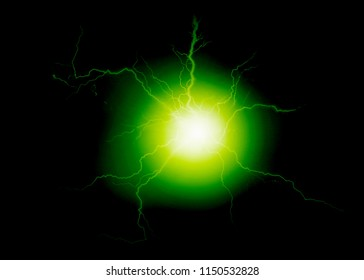 Explosion of pure power and electricity