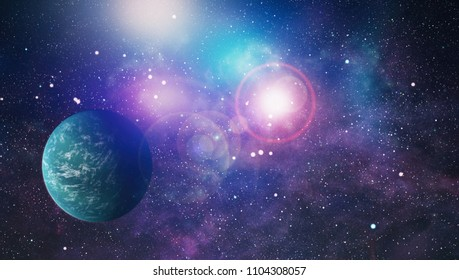 The explosion supernova. Bright Star Nebula. Distant galaxy. Abstract image. Elements of this image furnished by NASA.