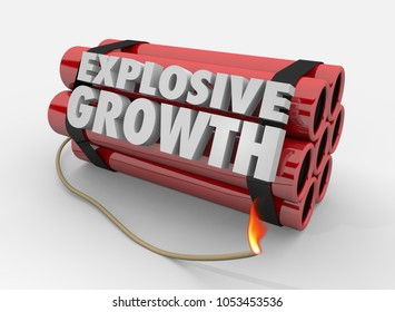 Explosive Growth Dynamite Bomb Explosion Increase 3d Illustration