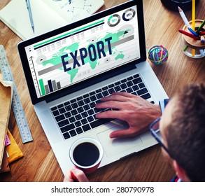 Export International Shipping Logistics Transfer Concept