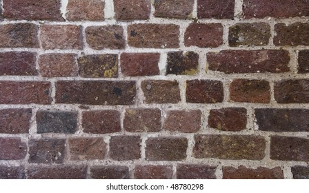exposed brick wall texture of a warehouse conversion