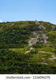 Exposed mountain summit above the tree line in the Mahoosuc range of the Appalachian Mountains in Maine.