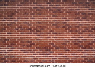 Exposed red vintage brick wall texture, brickwork pattern as background