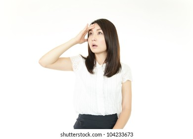Expression of business woman