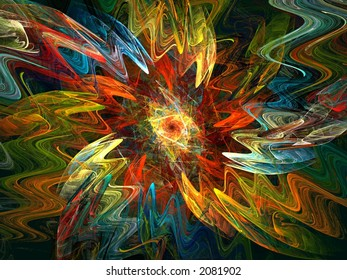 expressionist flame fractal