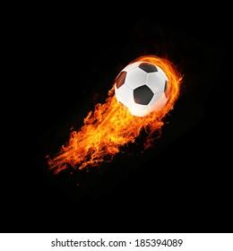 expressive 3d blazing football energy Object