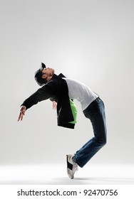 expressive dance move where the modern dancer bends backwards and shows his emotions