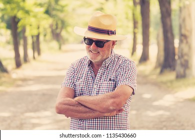 Expressive face expressions on good looking senior man casual summer dressed happy, funny and characteristic in life is too short live the most you can concept.