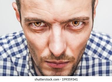 Expressive man portrait closeup