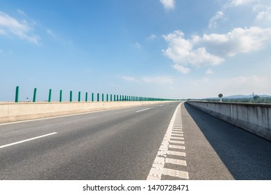 expressway against a sunny sky