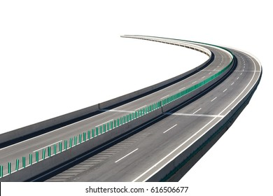 expressway isolated on white with clipping path
